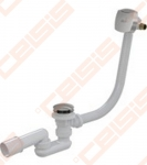 Sifonas voniai ALCA PLAST su reguliuojama perpylimo sistema, prailgintas, chromuotas, akrilinei voniai, su vandens pripildymu
