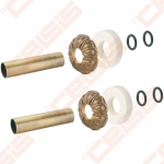 Apdaila (spalva: bronza) dviem vamzdžiams (atstumas nesvarbus) CARLO POLETTI A670; 18 x 50mm; L=160mm