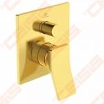 Virštinkinė dalis vonios/dušo maišytuvo Ideal Standard Check, spalva Brushed Gold. Reikalinga potinkinė dalis A1000NU