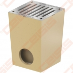 Polimerbetoninis ACO Self trapas su cinkuotomis grotelėmis be briaunos; Dn 250 x 250 mm