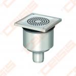 Dušo trapas ACO EG150, matmenys - 150 x 150 mm, pajungimas - 50 mm, vertikalus ištekėjimas, reguliuojamas aukštis