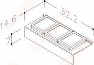 Stalčių dėžutės baltos 11 cm