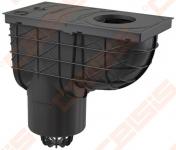 Lietaus surinkimo trapas ALCA PLAST 300x155/125, vertikalus, juodas