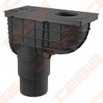 Lietaus surinkimo trapas ALCA PLAST 300x155/110/125, vertikalus, juodas