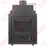 Plieninis židinio ugniakuras ROHEM ALVA 18; 18kW; (šilumokaitis 14kW)