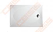 Dušo padėklas PAA ART 80x120 su panele ir kojelėmis, baltas