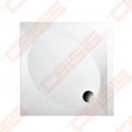 Dušo padėklas PAA ART 100x100 su panele ir kojelėmis, baltas