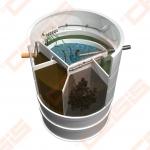 Biologinis buitinių nuotekų valymo įrenginio komplektas AUGUST AT-6, našumas 0,54 m³/d, orapūtė komplekte