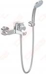 Maišytuvas voniai/dušui Ideal Standard Ceraflex, su dušo komplektu (rankinė dušo galvutė, fiksuotas laikiklis, dušo žarna 1500mm)