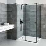 Durys dušo Roth BI PF2/1000 juodu profiliu, skaidriu stiklu.
