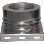 Dvisienė (izoliuota) nerūdijančio plieno atraminė plokštė su apatiniu kondensato nuvedimu JEREMIAS DW05