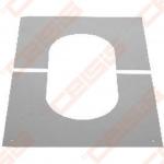 Nerūdijančio plieno apdailinė rozetė nuožulnioms 31-45° luboms JEREMIAS DW98V