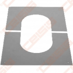 Nerūdijančio plieno apdailinė rozetė nuožulnioms 0-30° luboms JEREMIAS DW99V