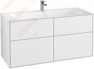 Spintelė apatinė VILLEROY&BOCH Finion 1196x591x498mm, blizgios baltos spalvos
