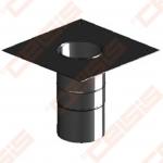 Vienasienė juodo plieno jungtisper stogą (kvadratinė) JEREMIAS Ferro1463