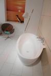 Vonia Balteco FLO 169x84x63 su sienos jungtimi ir uždanga