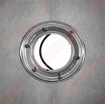 Nerūdijančio plieno žiedas HL su gumine tarpine ir varžtų komplektu, su Montapast B tipo hidroizoliacine medžiaga 400x400 mm tepamai mastikai