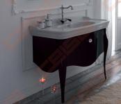 Spintelė OLYMPIA Impero Style 100 cm,juoda,svarovski rankenėlė