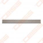 Grotelės ALCA PLAST Line latakams APZ1 ir APZ101, ilgis 650 mm (blizigios arba matinės)