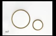 Mygtukas Alca Plast M775 dvigubas baltas/auksas