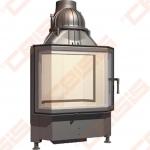 Plieninis židinio ugniakuras SCHMID PANO TV 6745 S (670 x 1095 x 545); 3,3-8,7kW