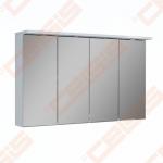Spintelė ORISTO SILVER su veidrodžiu 120 cm pločio, LED apšvietimas