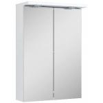 Spintelė veidrodinė Silver 50cm, apšvietimas, balta blizgi