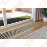 LICON grindininis konvektorius PK (U arba F profilis sidabro arba bronzos spalvos)