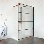 Sienelė dušo PHILLY LOFT HORIZON 900, juodas profilis, skaidrus stiklas