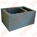 Blokelis su dviguba ventiliacija 36x54x33cm. Ø160-200