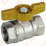 """Žalvarinis chromuotas (matinis) GIACOMINI R851 rutulinis ventilis dujoms Dn3/8"""""""
