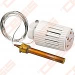 Kolektoriaus termostatinė pavara (galva) su 2m ilgio kapiliaru ir gilze, 20-70°C GIACOMINI R462L2