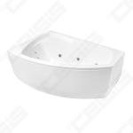Vonia Balteco Rhea 170 kairė, panelė, masažo sistema S4 ir automatiniu vandens pripildymu OS