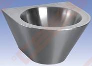 Nerūdijančio plieno plautuvė SANELA Ø36mm, antivandalinė