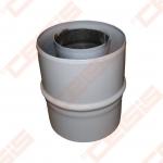 Cinkuoto plieno ir polipropileno jungtis dūmtraukio praplatinimui JEREMIAS TWIN-PL182 Dn60/100 -> 80/125