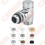"""Apdailinis kampinis ventilis (spalva: aukso) CARLO POLETTI V302; Išorė / Išorė; 1/2"""" x (24-19)"""