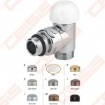 """Termostatinis kampinis ventilis (spalva: blizgi balta) CARLO POLETTI V311; Išorė / Išorė; 1/2"""" x (24 - 19)"""