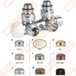 "Termostatinis kampinis ventilis (spalva: blizgi balta) CARLO POLETTI V371; Išorė / Išorė; 1/2"" x 3/4"" EK"
