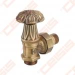 """Apdailinis kampinis ventilis (spalva: bronza) CARLO POLETTI V671; Išorė / Išorė; 1/2"""" x (24 - 19)"""