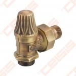 """Balansinis kampinis ventilis (spalva: bronza) CARLO POLETTI V672; Išorė / Išorė; 1/2"""" x (24 - 19)"""