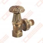 "Apdailinis kampinis ventilis (spalva: bronza) CARLO POLETTI V673; Vidus / Išorė; 1/2"" x 1/2"""