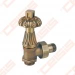 """Termostatinis kampinis ventilis (spalva: bronza) CARLO POLETTI V681; Išorė / Išorė; 1/2"""" x (24 - 19)"""