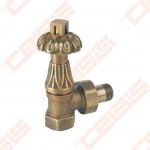"""Termostatinis kampinis ventilis (spalva: bronza) CARLO POLETTI V683; Vidus / Išorė; 1/2"""" x 1/2"""""""