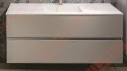 Spintelė  BALTECO Grada 80, 2 stalčiai balta/pilka