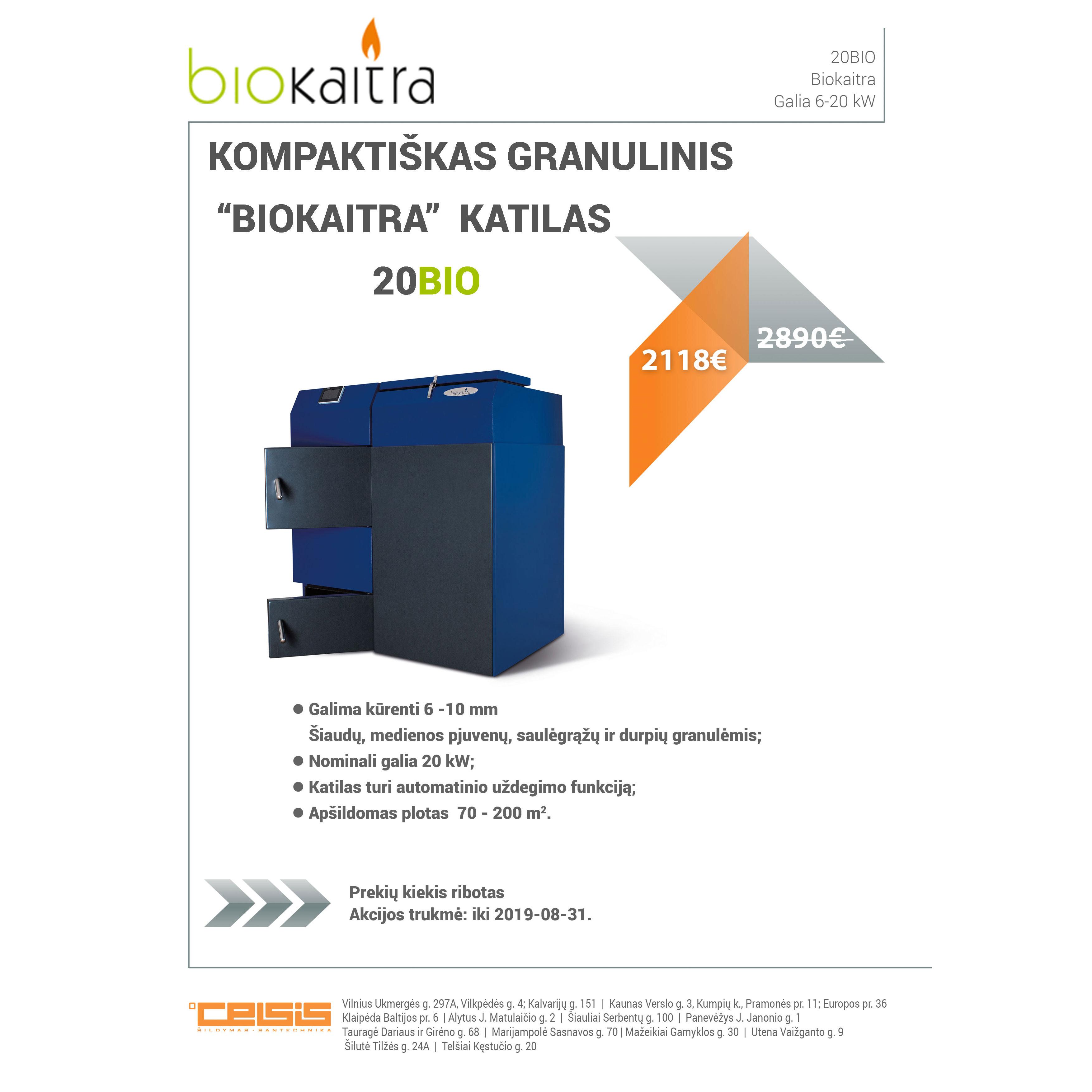 """KOMPAKTIŠKAS GRANULINIS """"BIOKAITRA""""  KATILAS 20BIO 2118 €!"""