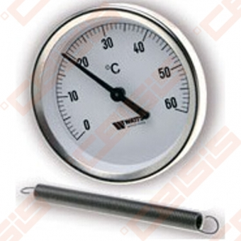 """Bimetalinis termometras WATTS F+R810 TCM; Ø63; Dn1"""" - 2""""; tMaks.120°C"""