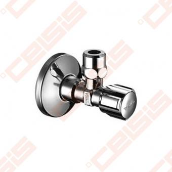 "Žalvarinis chromuotas (blizgus) SCHELL Comfort ventilis su veržle Dn1/2"" x Ø10"
