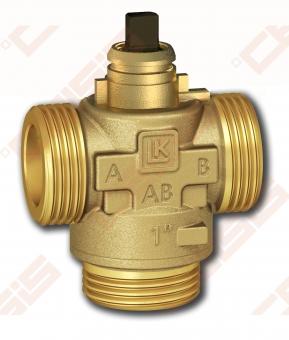 3-eigis srautų skirstymo vožtuvas LK 525; Kvs8; Dn25; (bronza)
