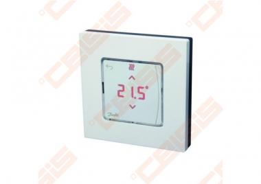 Danfoss Icon patalpos termostatas, 230V, su ekranu, ant sienos 80x80