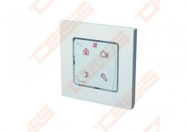 Danfoss Icon patalpos termostatas, 230V, su ekranu programuojamas, sienoje 80x80